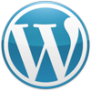Medium WordPress Logo Blue