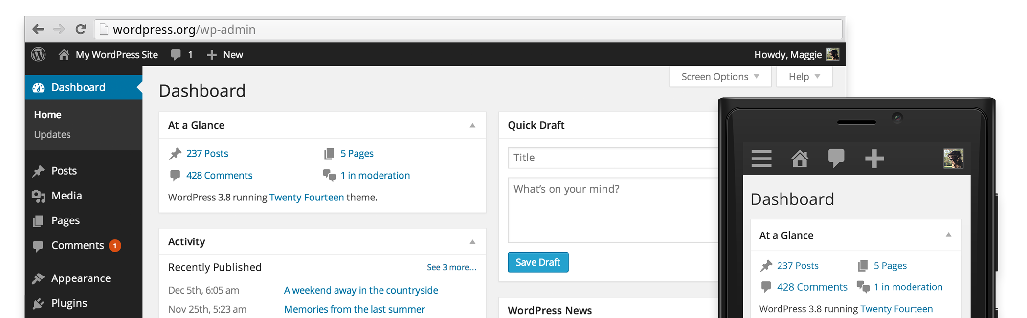 WordPress redesign