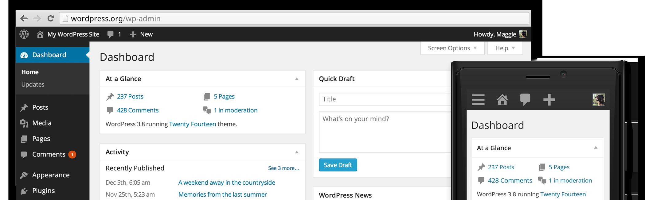 博客更新至WordPress3.8