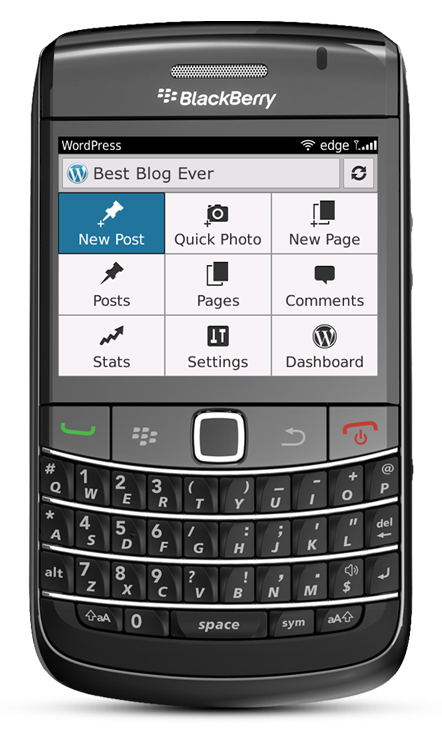 WordPress for BlackBerry
