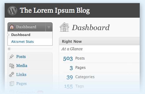 Full WordPress screenshot